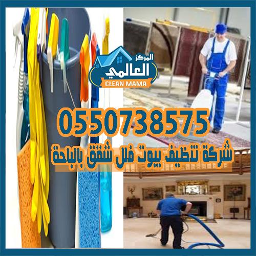 شركة تنظيف بيوت فلل شقق بالباحة